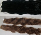 wavy tape hair extension /skin weft hair extensions/pu weft