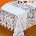 Elegante mantel de vinilo con encaje de PVC, rollo de mantel de mesa de vinilo
