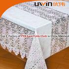 Elegant pvc lace vinyl table cloth,roll vinyl tablecloth