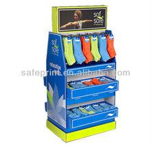 Clothing and socks pop cardboard display stand