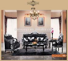 DXY-809# Hotel furniture sofa neoclassical solid wood sofa set