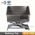De aceroinoxidable perro bts-130e bañera
