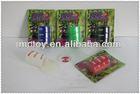 blister card packing Funny barrel slime oil bottle red blue green black toys for children5.5(d)*7.5(h)cm bulk packaging