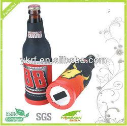 Patented Neoprene Beer Bottle Cover With Opener
