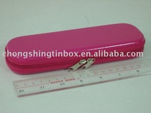 Pencil tin box with zipper