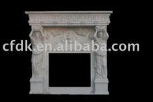 White Stone Decorative Fireplace