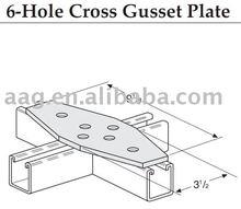 6-hole cross gusset plate