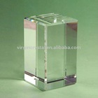 blank crystal block cube in different shapes for 3D laser engraving