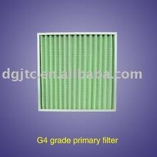 G4 Glass Fiber Pleated panel filter,heavy duty filter