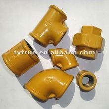 ISO49 IRAM2548 Epoxi Coated Malleable Iron Pipe FIttings