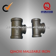 banded black malleable iron pipe fitting pipeline joint reducing tee