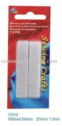 20MM/1.5MTR 100% cotton ribbed elastic(No17513)
