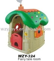 kids plastic mushroom play cubby house