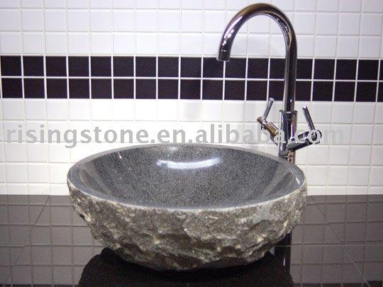 Grijze Wasbak Badkamer : Grijze steen badkamer wastafel badkamer ...