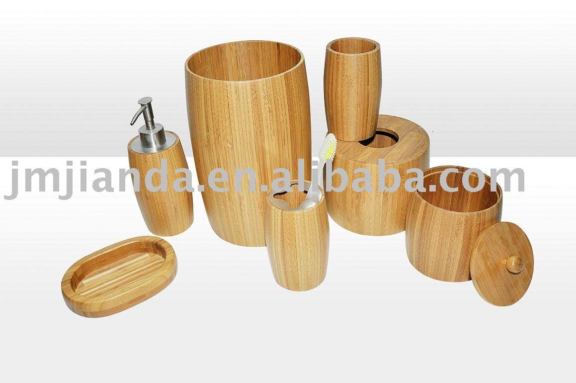 Ensemble Salle De Bain Bambou  Bamboo Bathroom Accessories