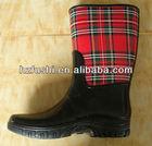Cloth Cover Rubber Half Wellington Boots