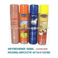 dry base , alcohol base air freshener 300ml household deodorant spray