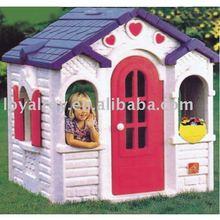 Happy children play house