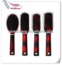 hair care produce plastic cushion hair brush with nylon pins