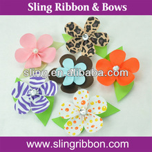 Five-Pedal Mix Colors Kids Hair Bows