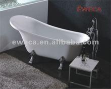 Cast acrylic Bathtub with four legs