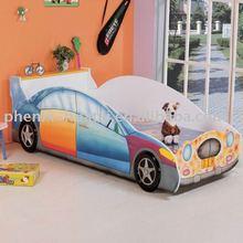 Modern kids racing car bed