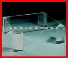JAD-070 Crystal Clear Organicglass Coffee Table,Lucite Plexiglass Tea Table,Square PMMA Desk
