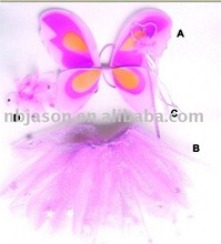 magic flying fairy / angel wing set / fairy dresses for 1year girls