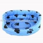 "17"" paw prints pet beds, dog loves it"