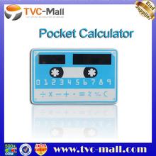 Ultra-thin 8 Digit Portable Card Pocket Solar Calculator
