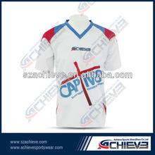 Sublimation printing motor t shirt racing wear