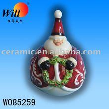 ceramic Santa Claus dinner bell