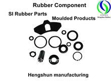 Black Soft SI Rubber Component