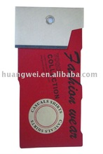 2012 hang tag for jeans with red color