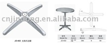 aluminum alloy,polish,spray,electroplate,chrome,restaurant,outdoor,table bases for glass tops,wooden,furniture legs