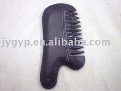 10cm black jade comb, bianshi comb, head massage comb,health care massager