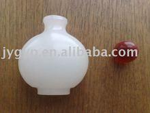 white glass snuff bottle antique handicraft