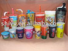 3D lenticular plastic cup ( Vaso plastico )