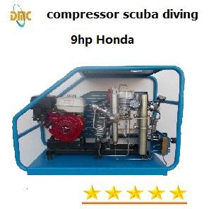 Compresseur d'air à haute pression portable pour tank de respirer 200 bars 250 bars 300 bars