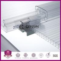 10year warranty uv coated U-lock polycarbonate sheet, pc connection system