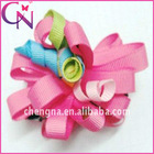 boutique hair claw hair accessories with curly flower (CNCHF-133)