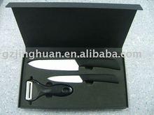 3 pieces ceramic kitchen knife set with anti-slip handle