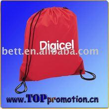 promotion custom printed nylon drawstring shopping bag wholesale