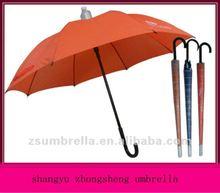 fashion umbrella 2012, safety plastic non water drop proof umbrella yellow
