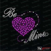 A5001 2012 fashion Heart hotfix rhinestone transfer motif