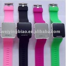 Lastest fashion eco-friendly LED watches silicone 2013