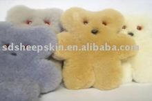 Bear Rug / Sheepskin Bear Cushion