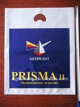 Die cut bag -print as customer request plastic bag