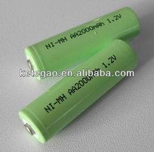 1.2V AA 2000mAh rechargeable nimh batteries