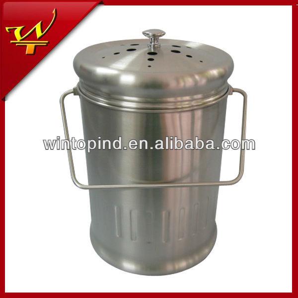 Un gallon en acier inoxydable seau de compost poubelle id - Seau a compost pour cuisine ...
